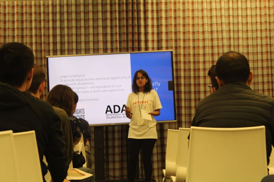 Riya speaking in San Francisco