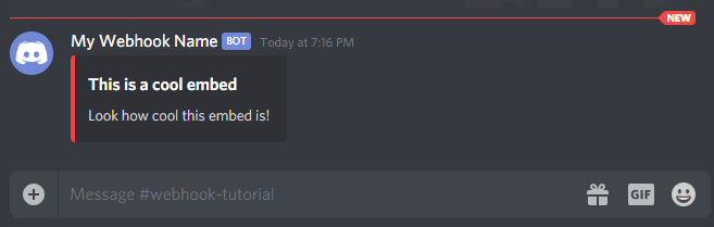 Discord Embed Example