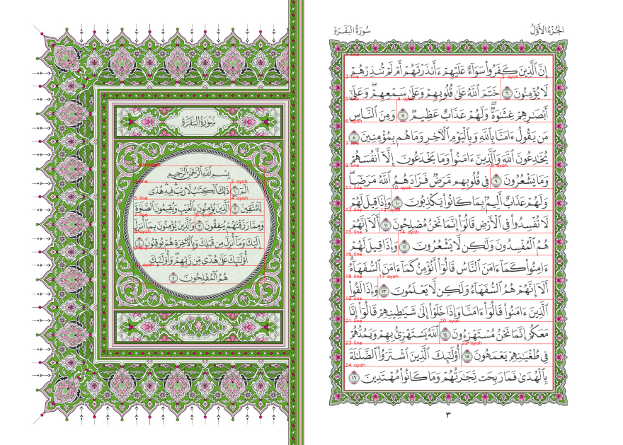 A Preview of Preprocessed Quran Images (1)