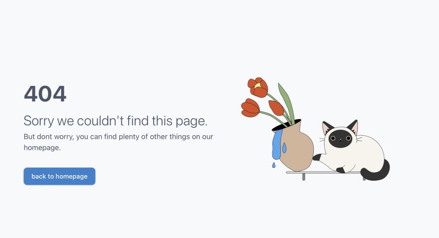 404 screenshot of website