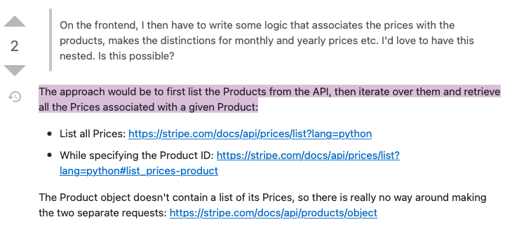 StackOverflow answer confirming my initial assumption