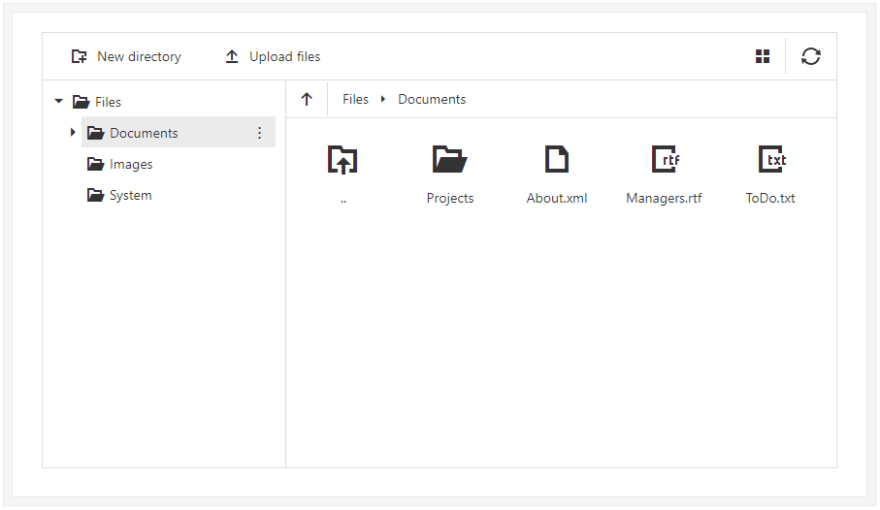 devextreme filemanager