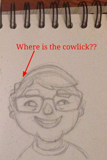 sketch of portrait for professor beekums