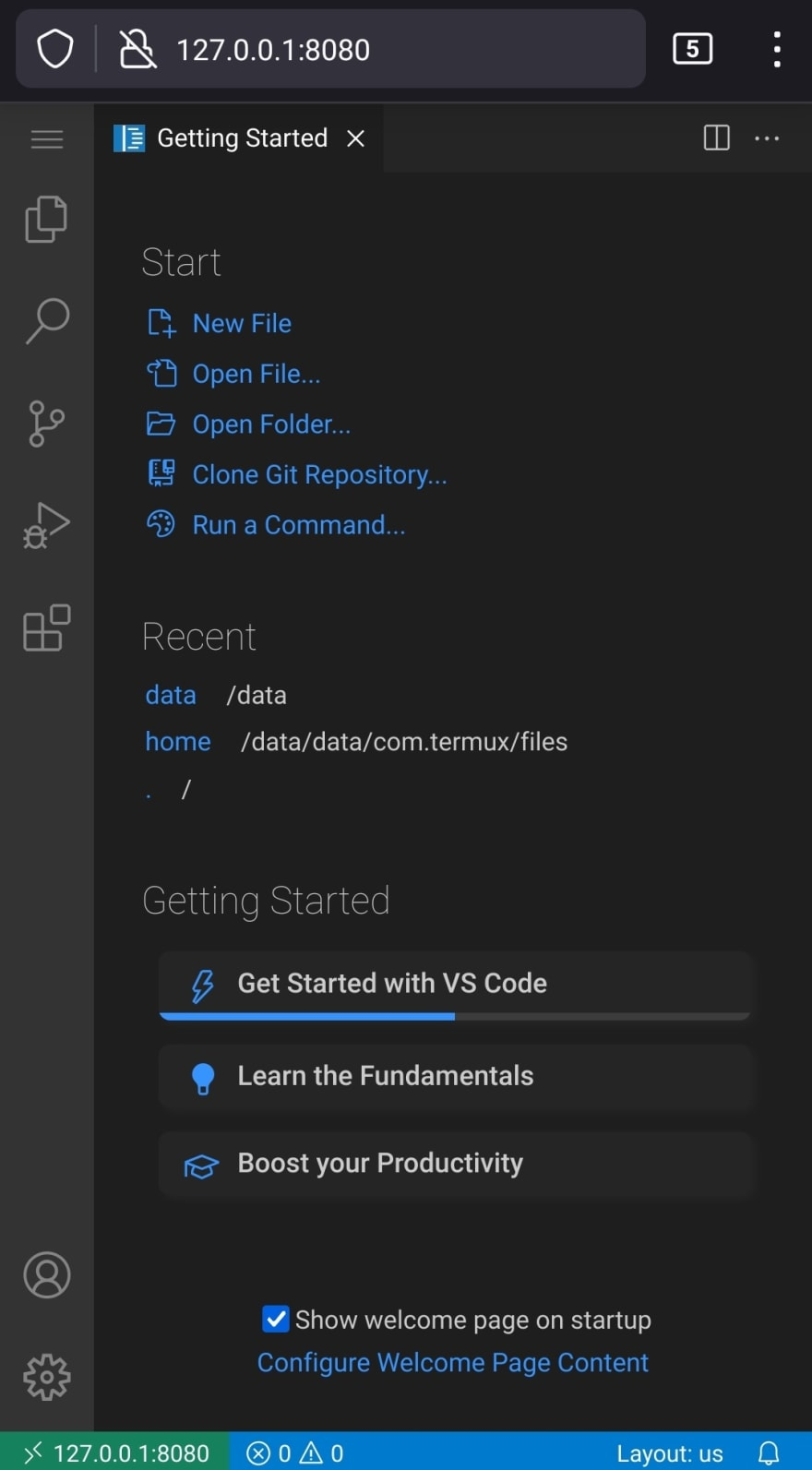 VS Code on Android by iArchitSharma
