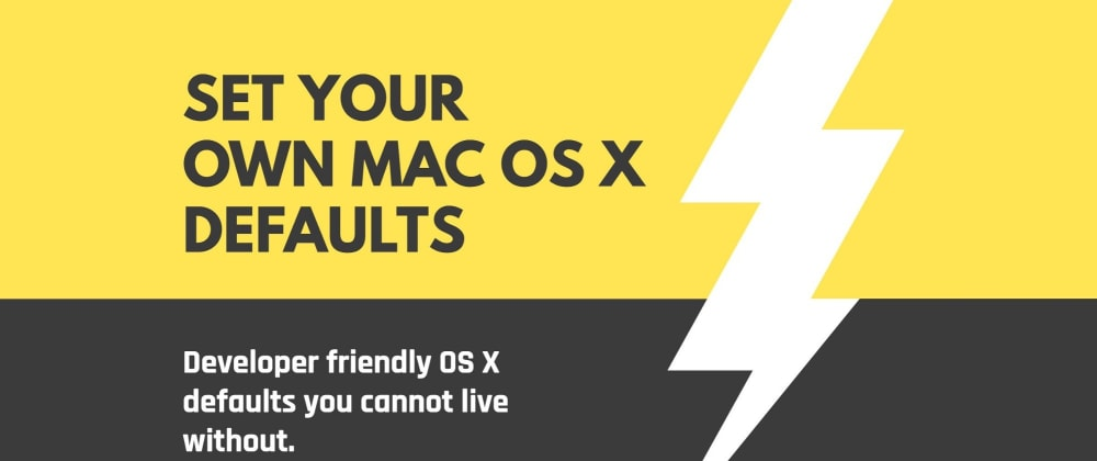 Cover image for Friendly OS X defaults