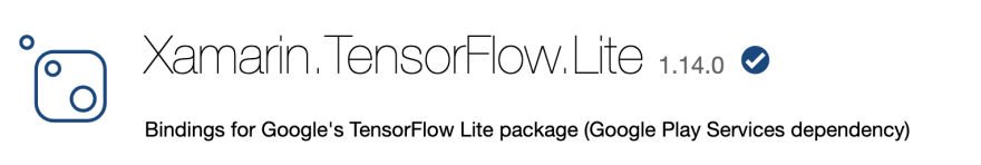 Xamarin.TensorFlow.Lite NuGet Package