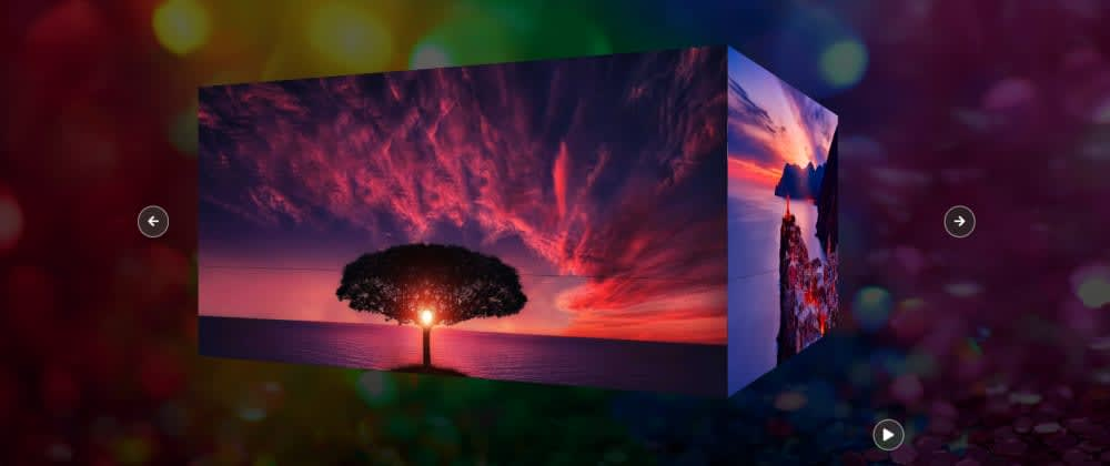 Cover image for Create a 3D Image Slideshow using HTML, CSS & JS