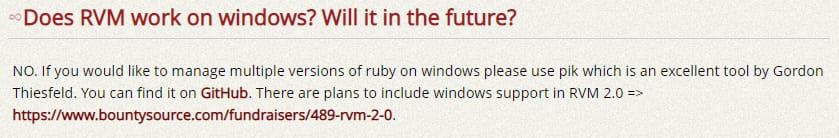RVM on Windows