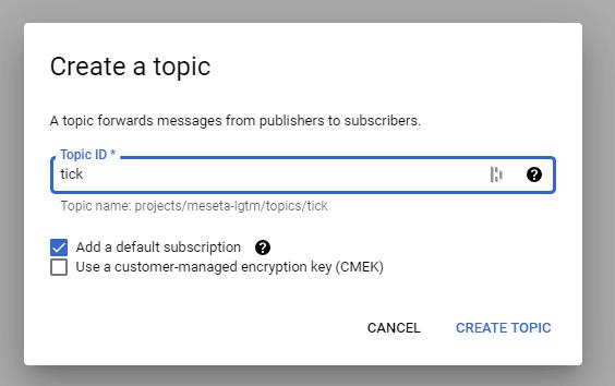 New PubSub Topic