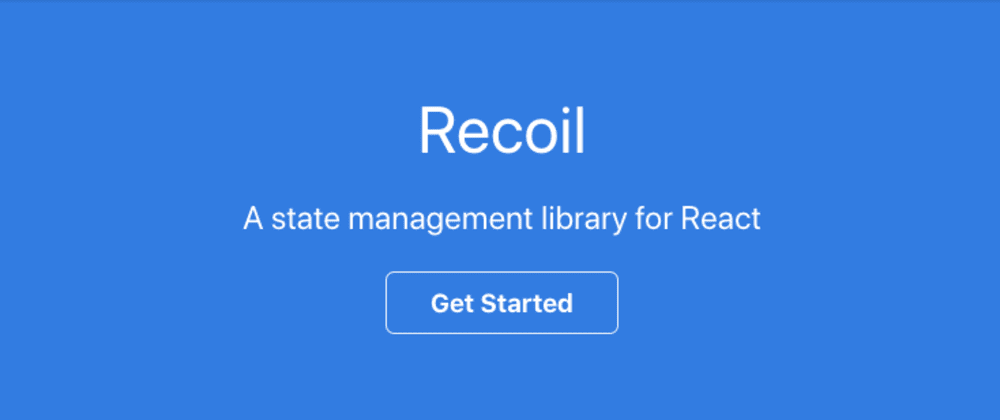 Cover image for Recoil - an experimental state management library for React apps open-sourced by Facebook