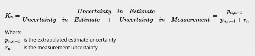 Kalman Gain Equation