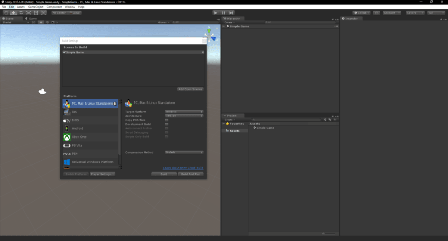How to create a basic game with Unity3D! - DEV Community