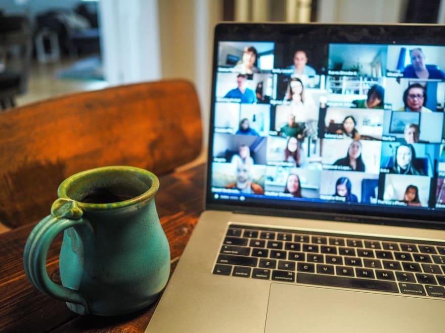 User attending an online meeting