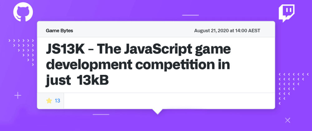Cover image for JS13K games, open source, and getting involved
