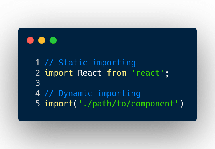 static importing vs dynamic importing