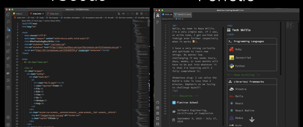 Cover image for How I Cloned VSCode to use as  my Portfolio
