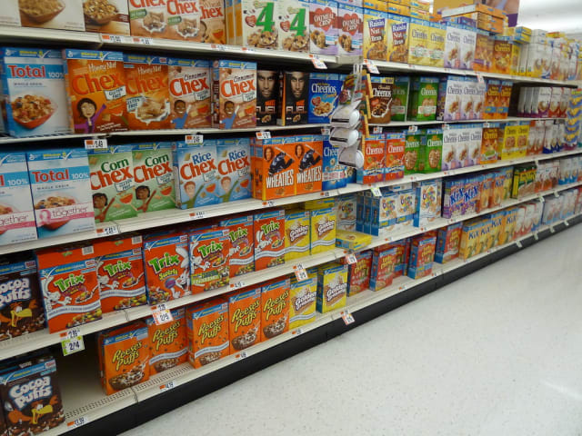 So many choices in the cereal aisle