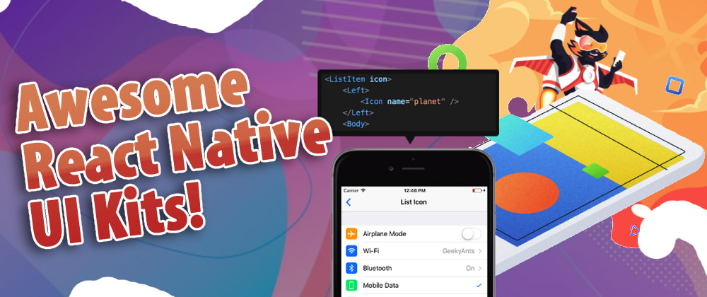 Cover image for Awesome React Native UI Kits for 2021