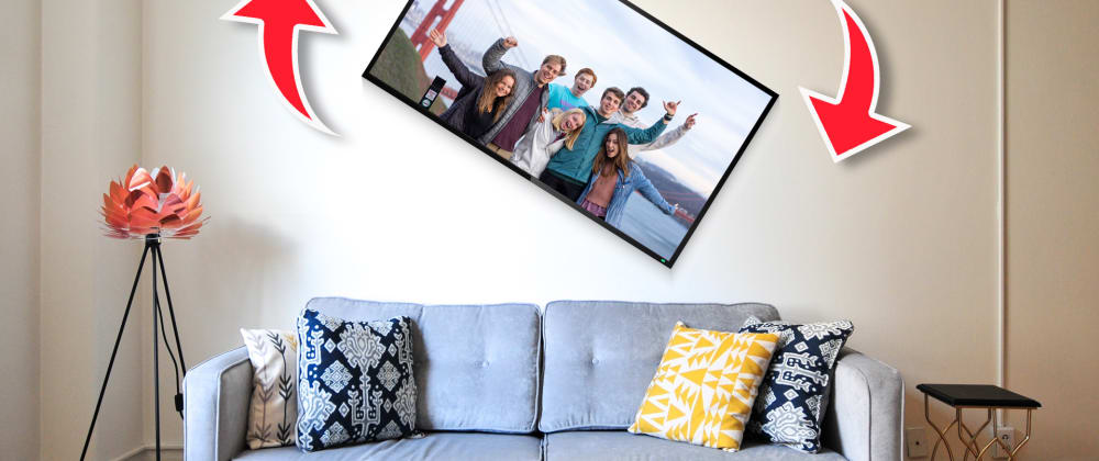 Cover image for Auto Rotating Digital Picture Frame from 4K TV!