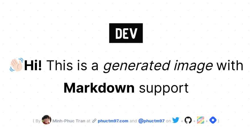 👋🏻Hi! This is a generated image with Markdown support