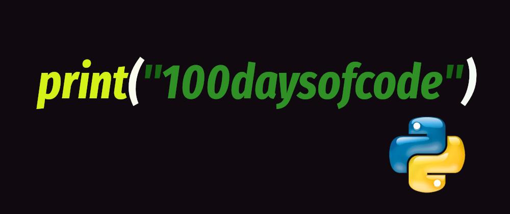 Cover image for Reto día 13/100 con Python