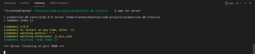 Terminal Server Running