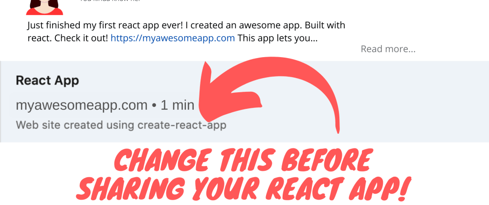 Cover image for Before You Share Your React App, Change index.html