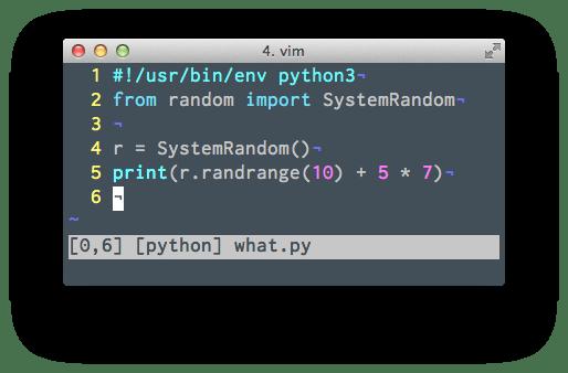 vim syntax highlighting