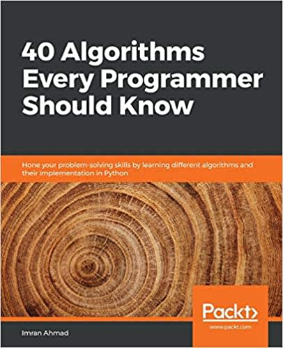 FANG interview prep book 40 algorithms every programmer should know with wood rings