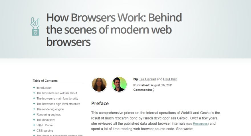 How browser works