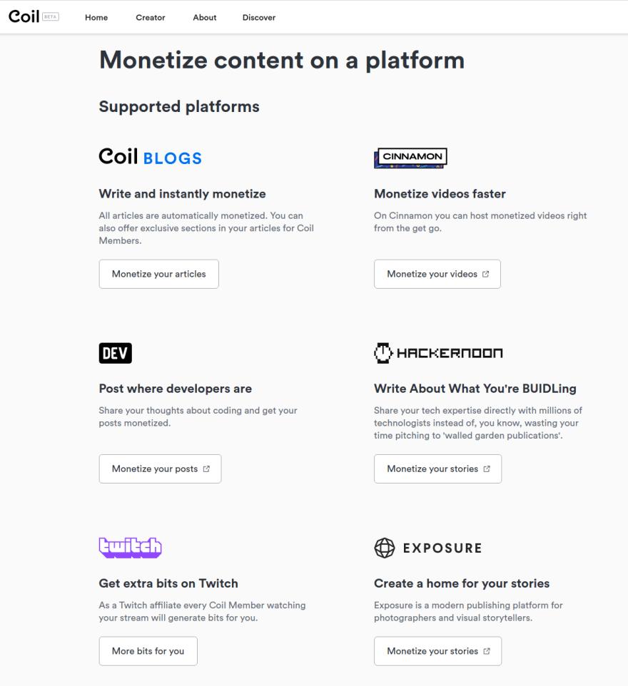coil monetization clients