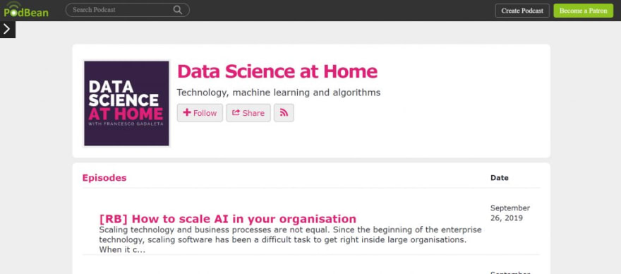 Data Science at Home Podcast