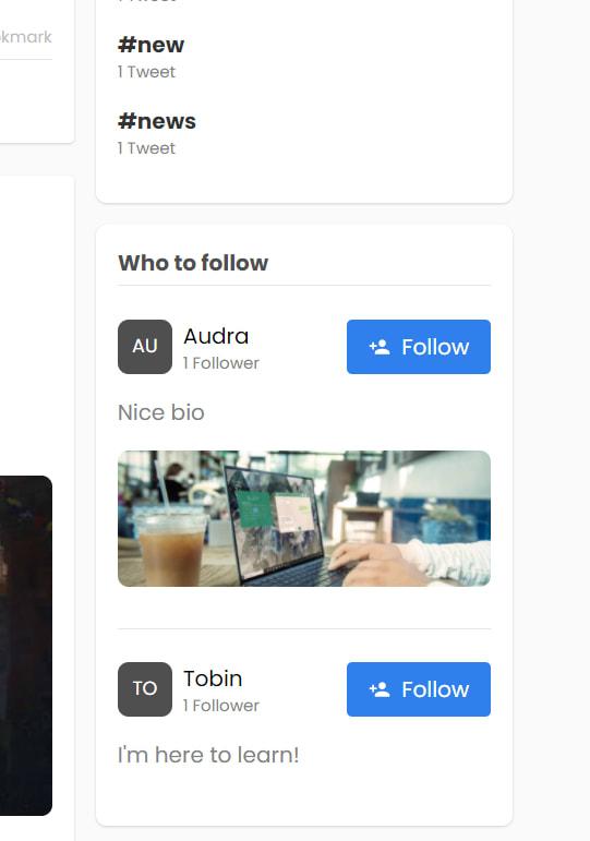 Followers suggestions bloc