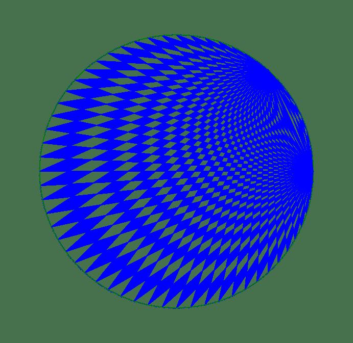 Spirograph art created by a computer program
