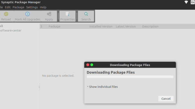 synaptic downloading packages fossnaija