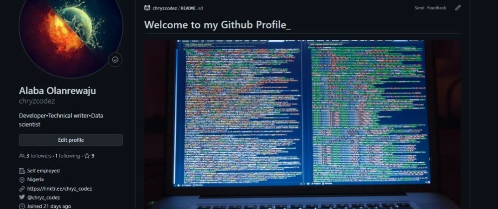 Cover image for My GitHub Profile Readme