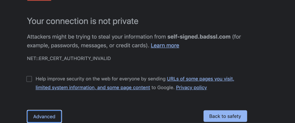 Cover image for A (secret) way to bypass Chrome's security/privacy error
