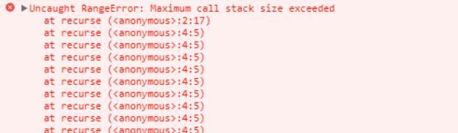 Maximum call stack exceeded