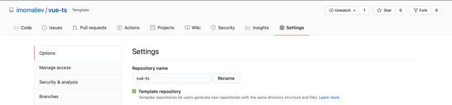 Template repository screenshot
