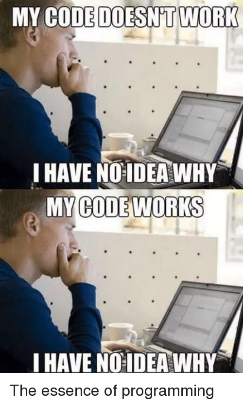 my code works and does not work