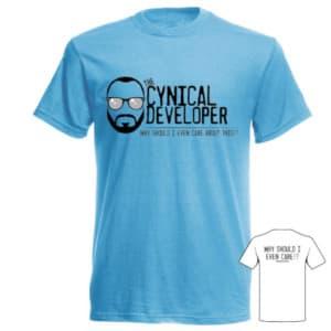 Blue Cynical Developer T-Shirt