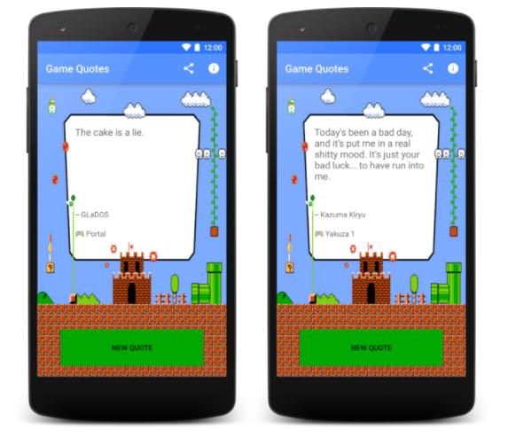 Screenshots of my first app