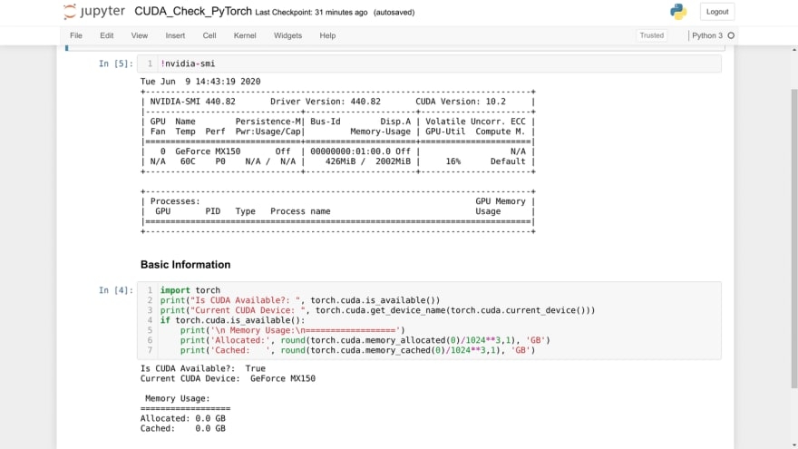 Krishnakanth - Screenshot of my Jupyter Server