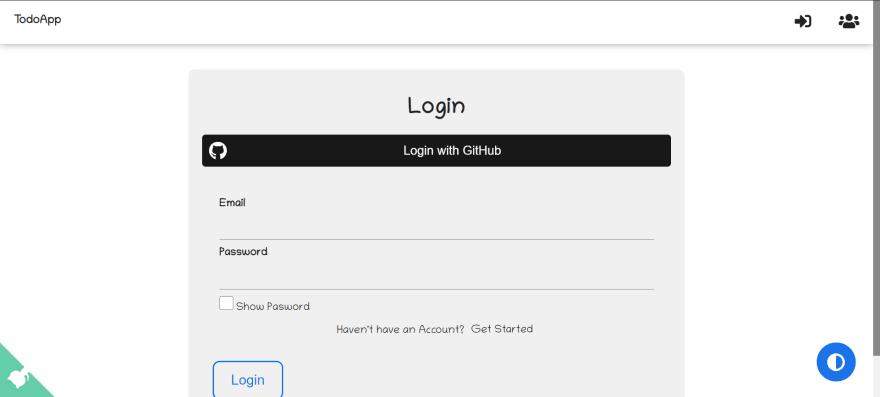 Login with GitHub