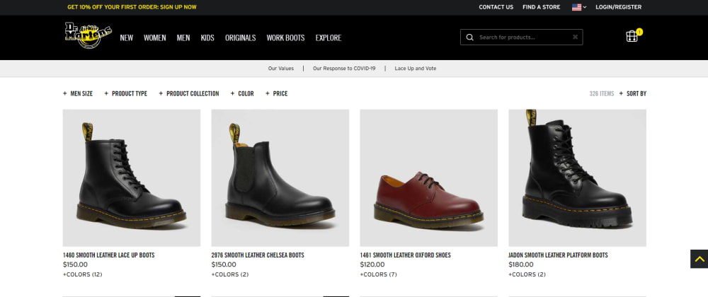 Cover image for Let's do a frontend & UX review - Dr. Martens
