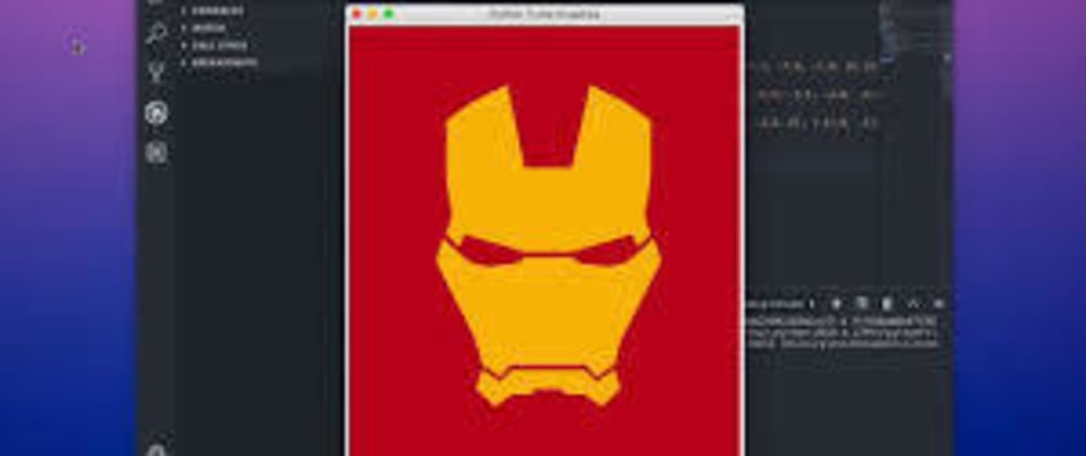 Cover image for Draw Ironman Helmet With Python Turtle Graphics