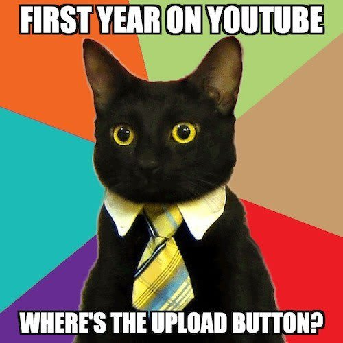 First year as a YouTuber meme