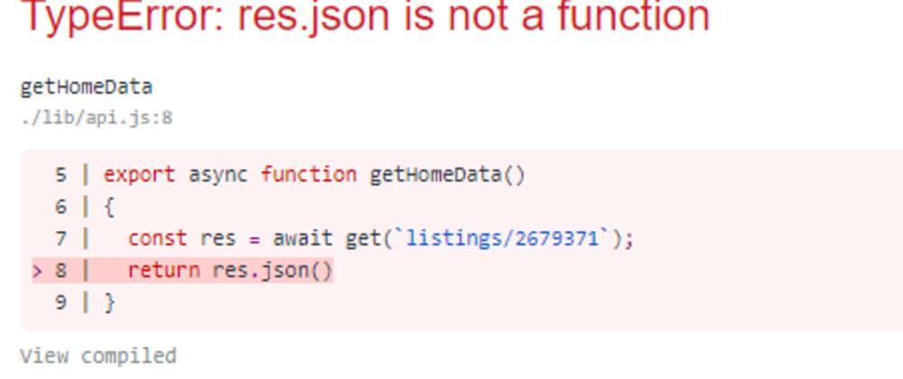 Cover image for Fixing error : Typescript res.json() is not a function