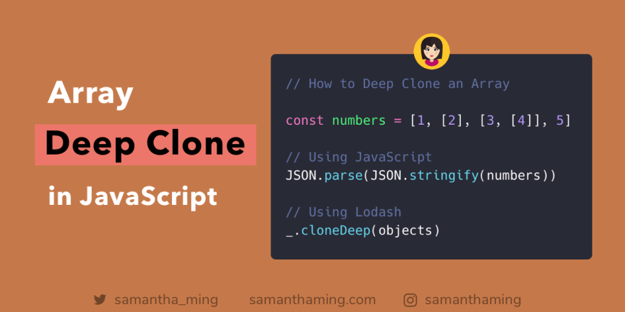 How to Deep Clone an Array in JavaScript - DEV Community