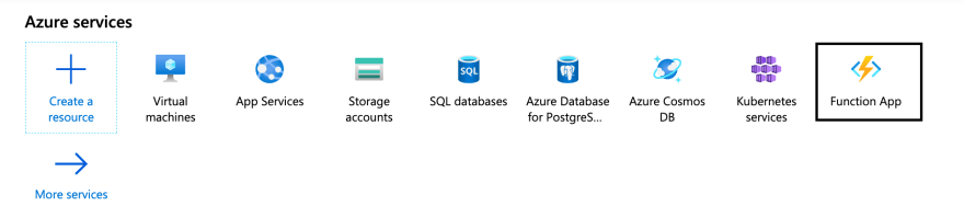 You can find Azure Functions in your portal.